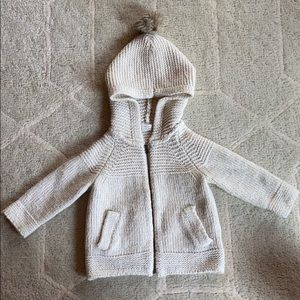 Baby GAP Pom Zippered Sweater